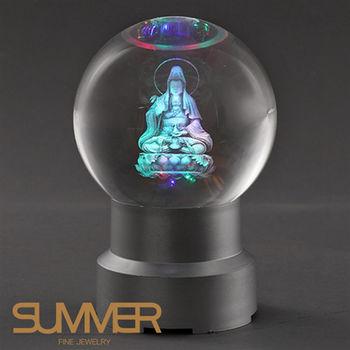 【SUMMER寶石】奧地利水晶觀音球座(限量精品-贈LED球座)