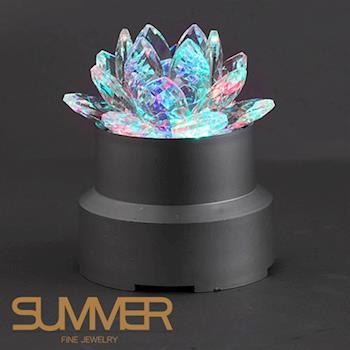 【SUMMER寶石】奧地利水晶蓮花LED燈座(限量精品)