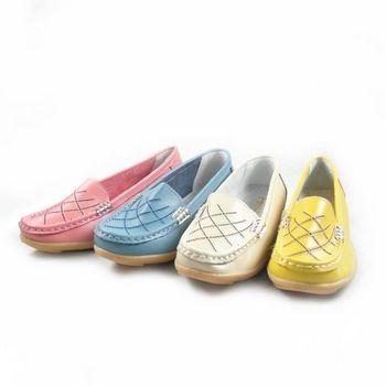 【Moscova】手工真皮系列 經典車線造型女款休閒鞋