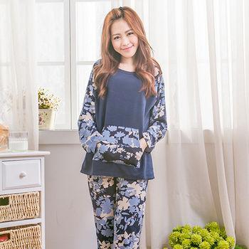 Wonderland 秋意氛圍居家休閒衣褲(藍色)