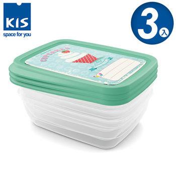【義大利KIS創意收納】杯子蛋糕系列食物保鮮盒組(3x1L) *3入
