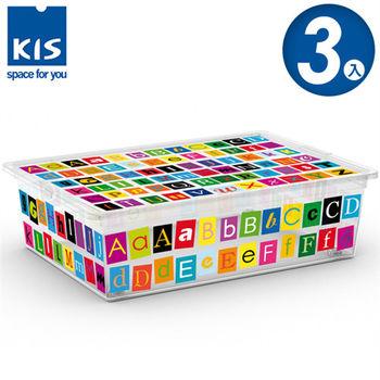 【義大利KIS創意收納】CBOX字母系列收納箱(附滾輪)-(L) *3入