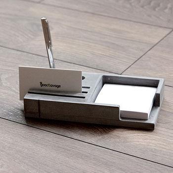 《舒適屋》設計款親水泥-名片架/筆插座/便條紙座