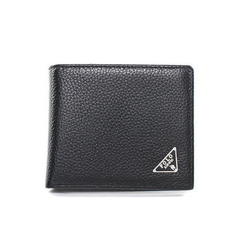 XINWEI POLO 英式設計質感壓紋簡約小牛皮短夾-86342-A
