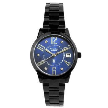 【Arseprince】時尚新魅力晶鑽女錶-黑藍
