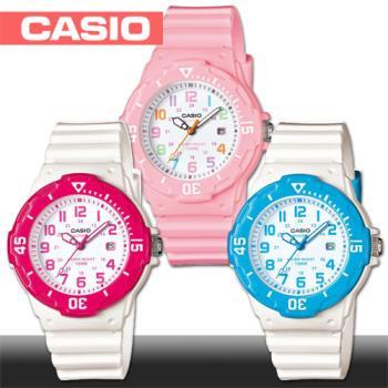 【CASIO 卡西歐】潛水風格-學生/青少年指針錶(LRW-200H)