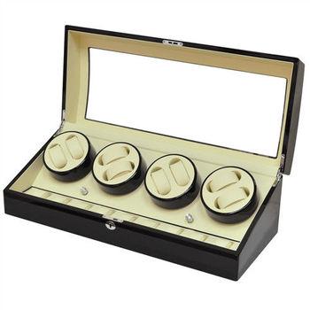 WISH 機械腕錶自動上鍊盒‧17只裝 - 黑色鋼琴烤漆(B023-BW)