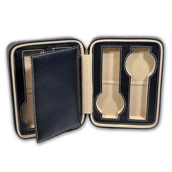 WISH 【手錶收藏盒/外出盒】‧真皮拉鏈式4只裝