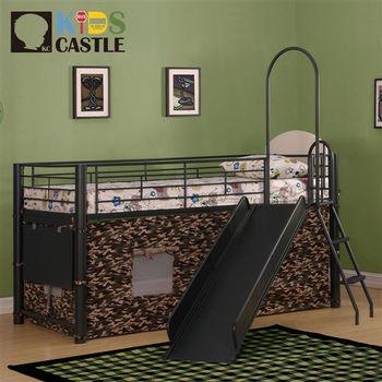 【Kids Castle】兒童城堡 雷恩多功能兒童造型中層床架(含床墊 床包 枕心)