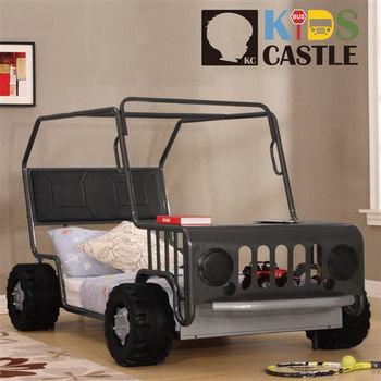 【Kids Castle】兒童城堡  亨利吉普車兒童造型單人床架(含床墊 床包 枕心)