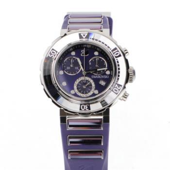 【SWAROVSKI】 施華洛世奇 Octea系列 高端運動時尚 3眼計時 女錶