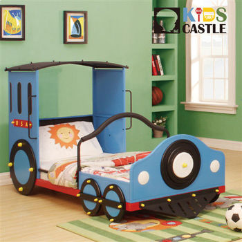 【Kids Castle】兒童城堡  湯姆士火車兒童造型單人床架(含床墊 床包 枕心)