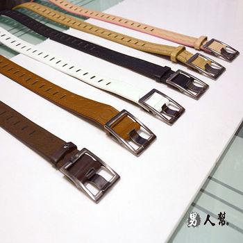 【男人幫】X0139【雜誌款壓紋設計金屬方型扣環皮帶】