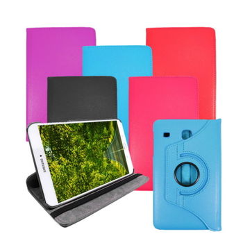 (送保護貼) Samsung Galaxy Tab E 8.0 T3777 8吋可旋轉立式皮套