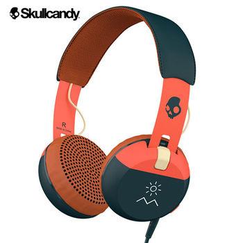 《Skullcandy》Grind葛萊 大耳罩式耳機-橘海軍藍