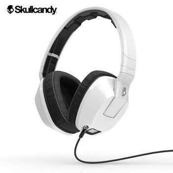《Skullcandy》Crusher跨許 大耳罩式振動耳機-白