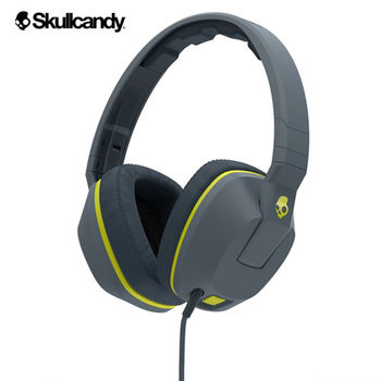 《Skullcandy》Crusher跨許 大耳罩式震動耳機-灰黃
