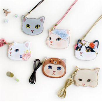【ZARATA】甜蜜貓貓臉頸繩吊牌