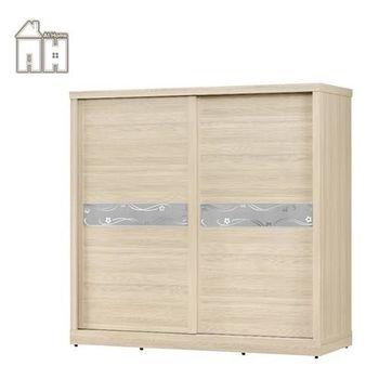 【AT HOME】凱莉7X7尺雪杉推門衣櫃
