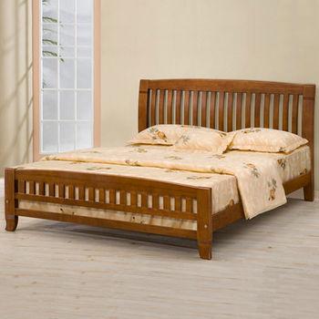 Homelike 亞倫實木床架-5尺雙人(不含床墊)