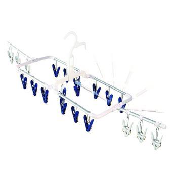 日本AISEN通風機能2段式20夾鋁合金曬衣架