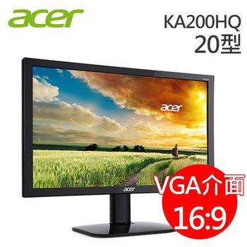 【Acer宏碁】KA200HQ 20型護眼液晶螢幕