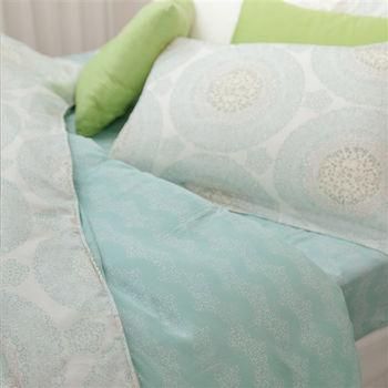 BBL 綠波花漾100%天絲.印花加大兩用被床包組
