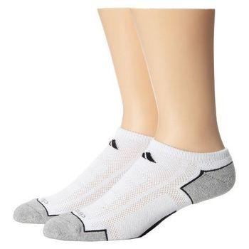 【Adidas】2016男時尚Climacool白色低切短襪2入組(預購)