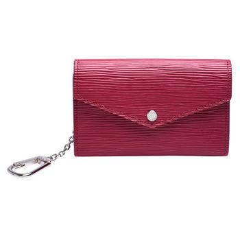 LV  M56246 EPI皮革水波紋鑰匙/零錢包(紫紅色 )