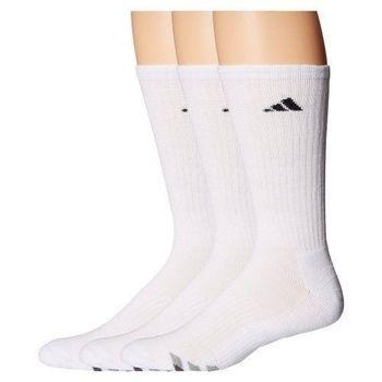 【Adidas】2016男時尚白色中統襪3入組(預購)