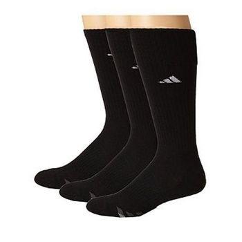 【Adidas】2016男時尚黑色中統襪3入組(預購)