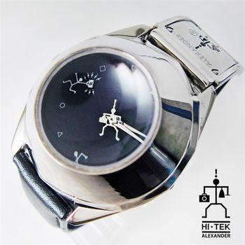HI-TEK 酷炫造型凸透水晶玻璃潮錶