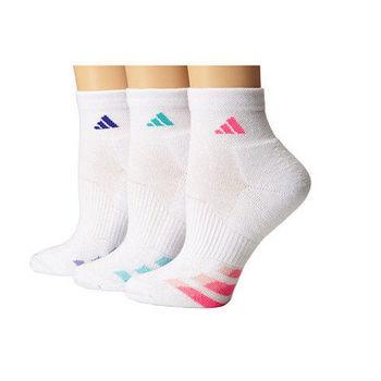 【Adidas】2016女Cushion白色運動短襪3入組(預購)