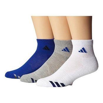 【Adidas】2016男女學童藍白灰運動短襪混搭3入組(預購)