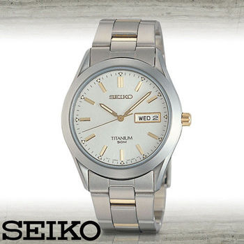 SEIKO 精工】日系-鈦金屬超輕時尚腕錶(SGG603P1)