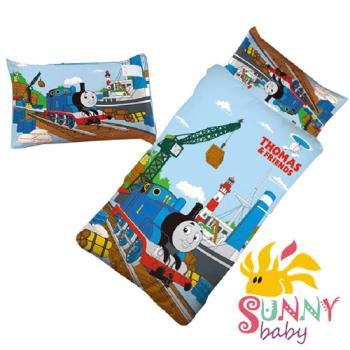【Sunnybaby生活館】- 卡通造型幼教兒童睡袋-湯瑪士小火車