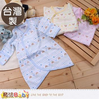 魔法Baby 嬰兒服飾 台灣製純棉薄款嬰兒護手蝴蝶衣~a16026