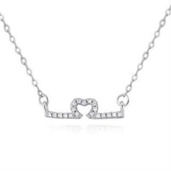 【米蘭精品】925純銀項鍊吊墜甜美精緻質感銀飾