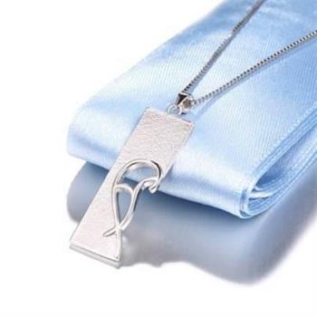 【米蘭精品】925純銀項鍊心型吊墜吊牌情人節銀飾