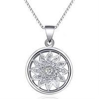 ~米蘭 ~925純銀項鍊花朵吊墜 優雅 銀飾