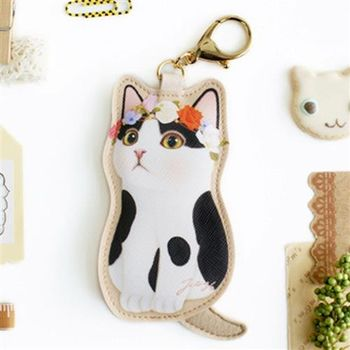 【ZARATA】Jetoy甜蜜貓娃娃鑰匙圈零錢包_Secret night