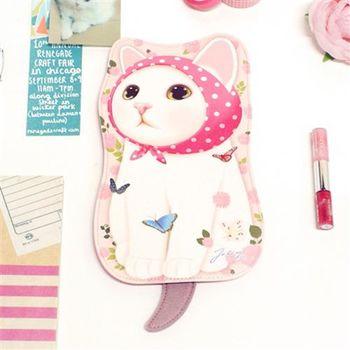 【ZARATA】甜蜜貓第二代娃娃造型萬用包_Pink hood