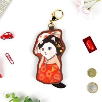 【ZARATA】甜蜜貓娃娃鑰匙零錢包_Myung wol