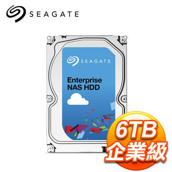 Seagate 希捷 6TB 3.5吋 7200轉 128M快取 SATA3 企業級NAS硬碟 (ST6000VN0001)