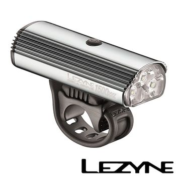 LEZYNE DECA DRIVE 1500XXL USB充電光學透鏡LED前燈(銀)