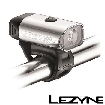 LEZYNE HECTO DRIVE 300XL USB充電光學透鏡LED都會騎乘照明警示前燈(銀)
