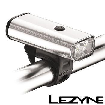 LEZYNE MACRO DRIVE 600XL USB充電光學透鏡LED長程競速夜騎照明警示前燈(銀)