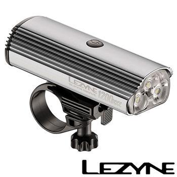 LEZYNE SUPER DRIVE 1200XL USB充電光學透鏡LED高亮度競速夜騎照明警示前燈(銀)