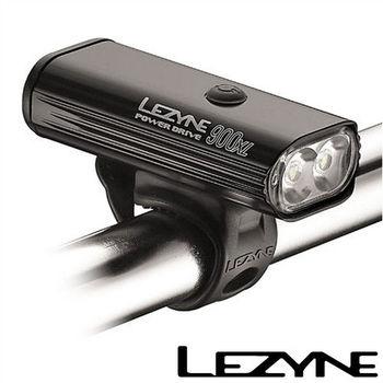 LEZYNE POWER DRIVE 900XL USB充電光學透鏡LED高亮度競速夜騎照明警示前燈(黑)