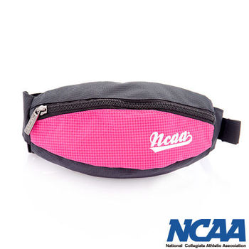 NCAA 馬卡龍隨身小腰包 運動格紋小腰包_(粉紅色、蘋果綠、藍色、紫色)